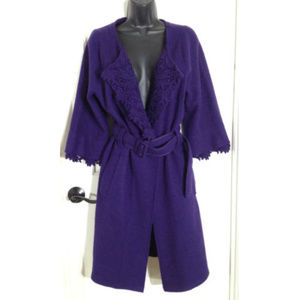 Sleeping On Snow Intelligencer Purple Wool Coat XL